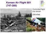 korean air flight 801 747 300