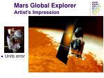 mars global explorer artist s impression