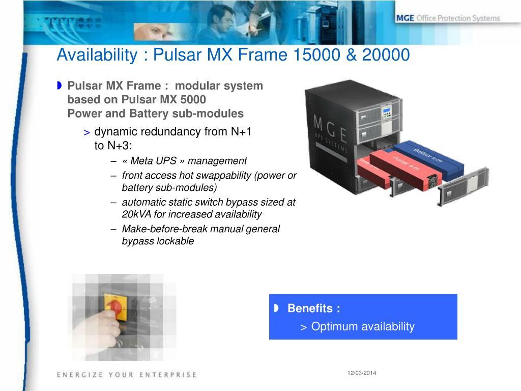 Pulsar MX Frame :  modular system
