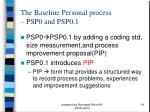 the baseline personal process psp0 and psp0 114