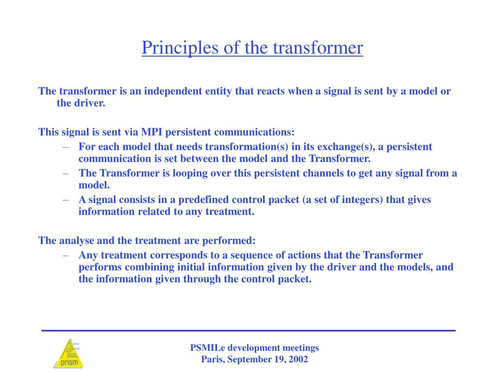 Principles of the transformer