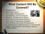 what content will be covered
