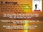 5 marriage