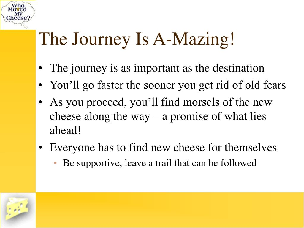 The Journey Is A-Mazing!