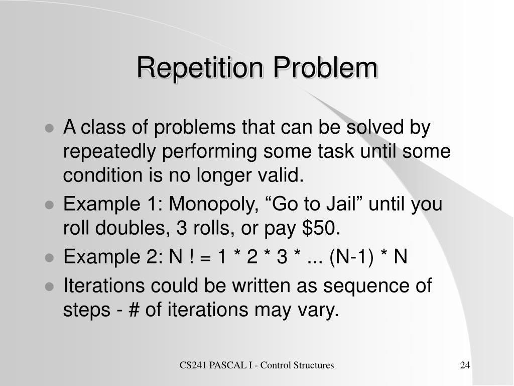 Repetition Problem