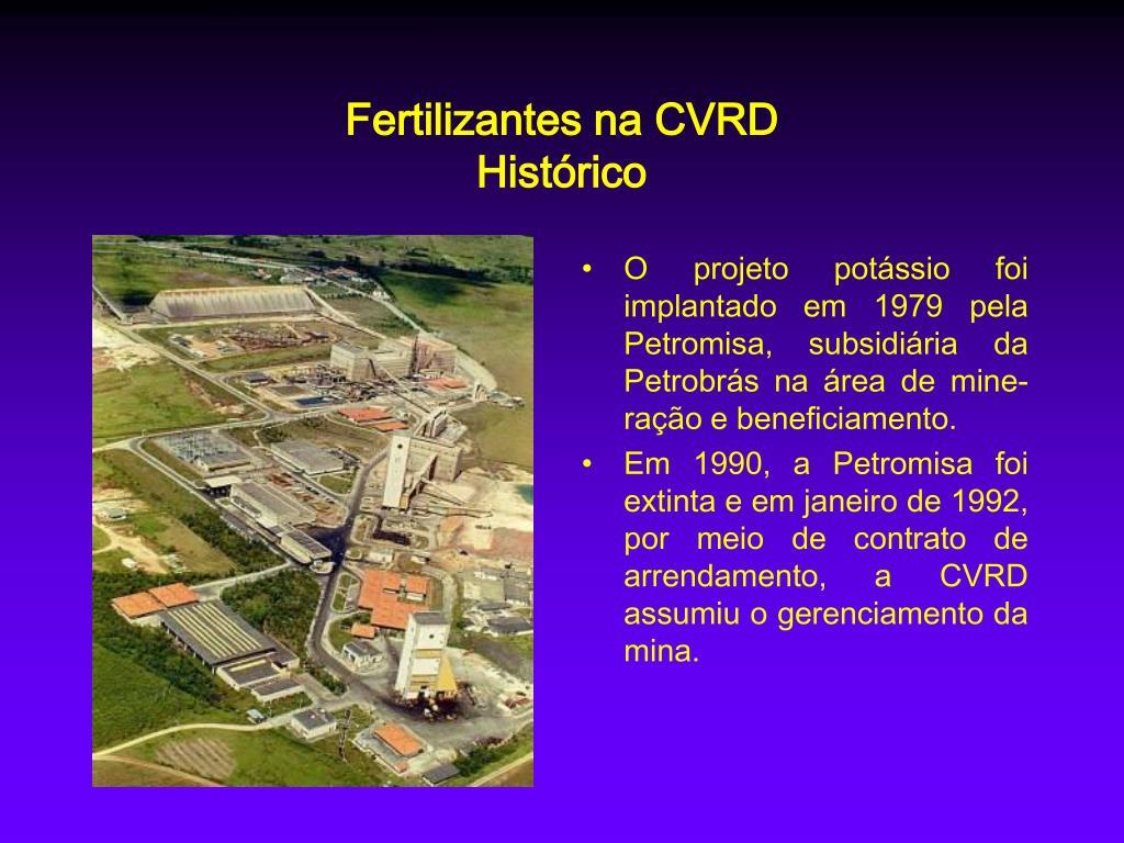 Fertilizantes na CVRD