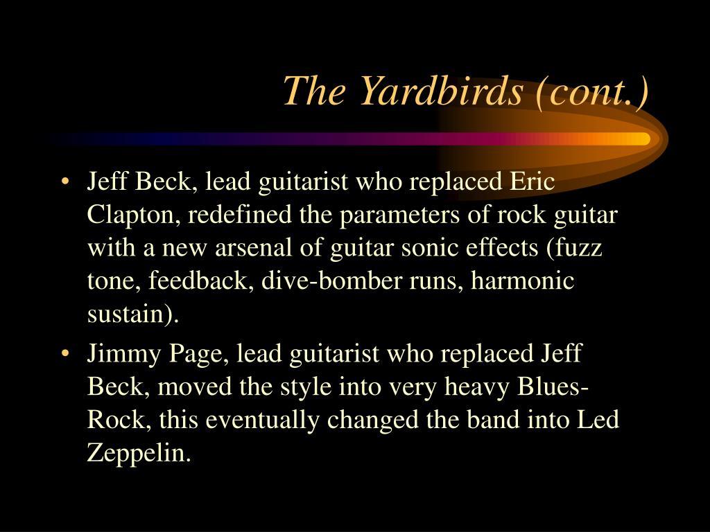 The Yardbirds (cont.)