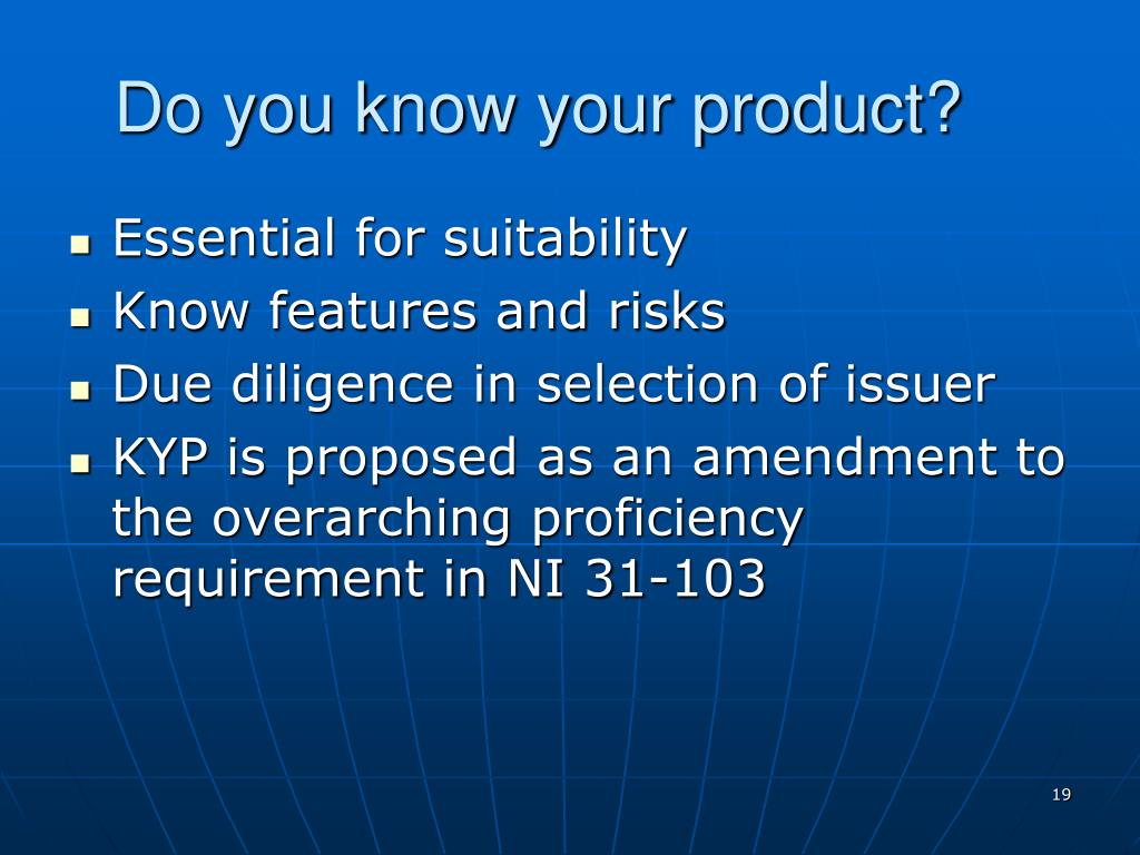 Do you know your product?