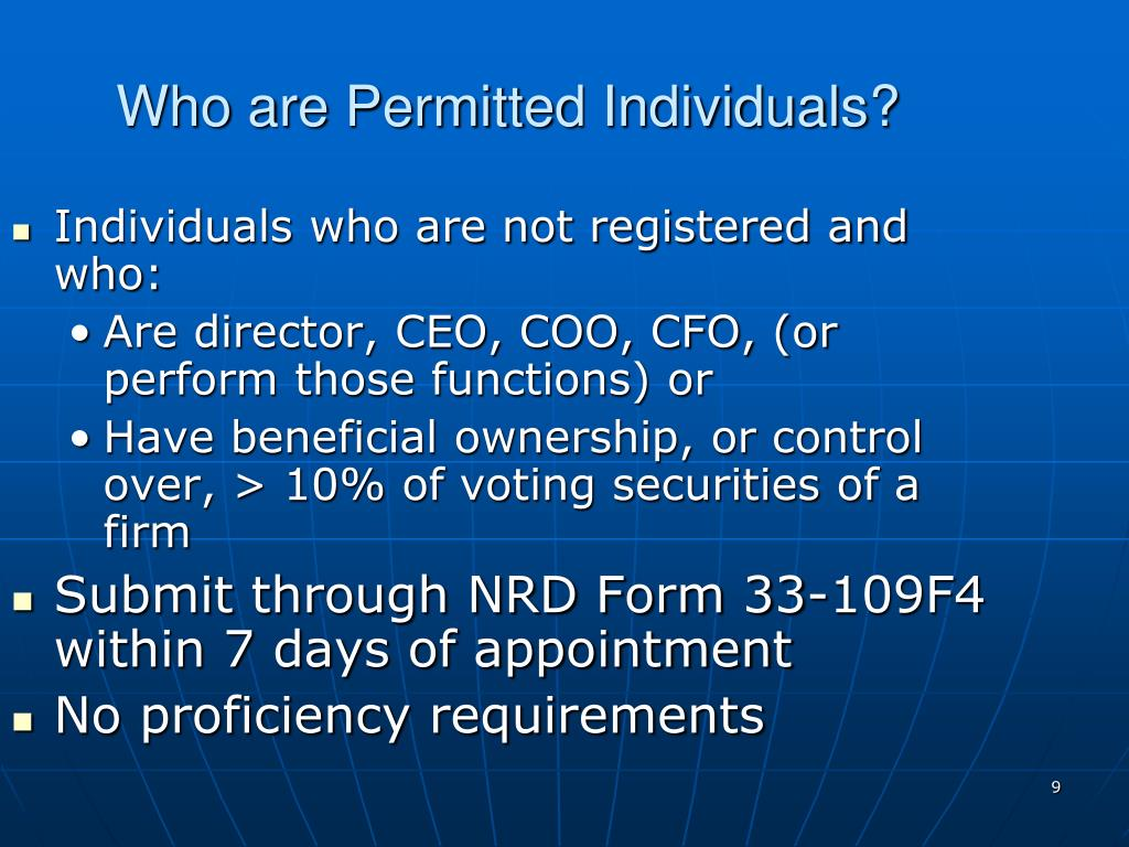 Who are Permitted Individuals?