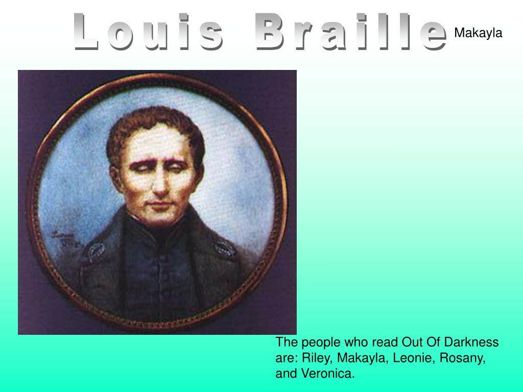 louis braille Louis braille was a french educator his blindness led him to develop a system that allows blind people to read and write this system is called braille.