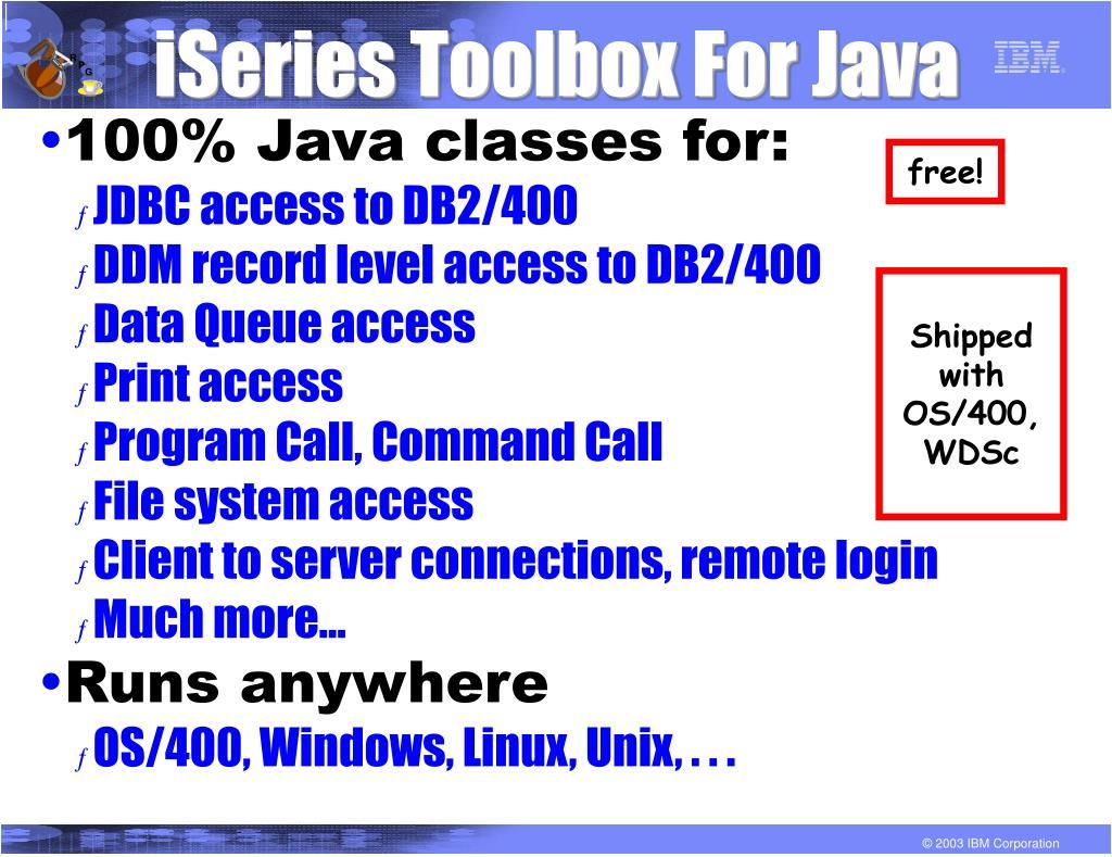 iSeries Toolbox For Java