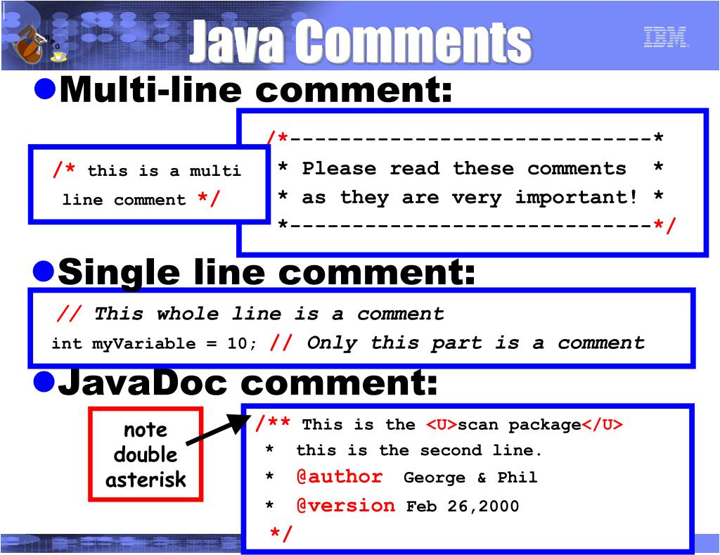 Java Comments