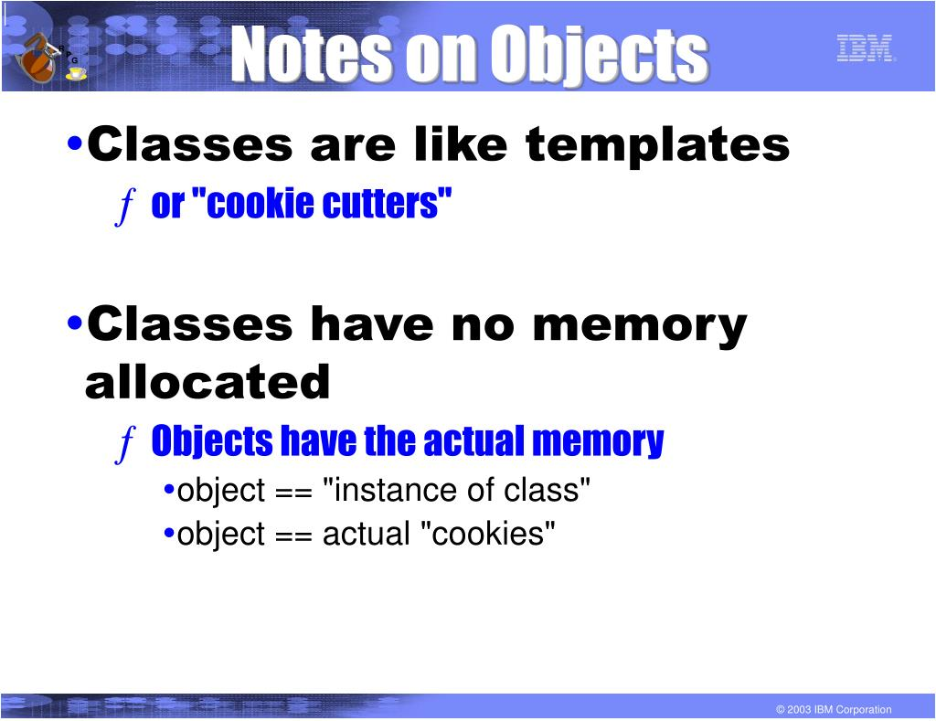 Notes on Objects