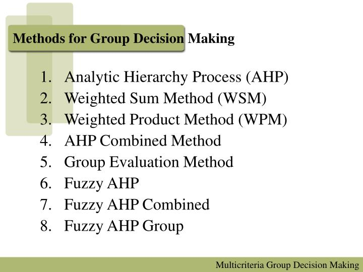 advantages and disadvantages of factor weighting method in location decisions Methods of job evaluation: accompanied by their various advantages and disadvantages a) an extension of the factor comparison method in which factors are.