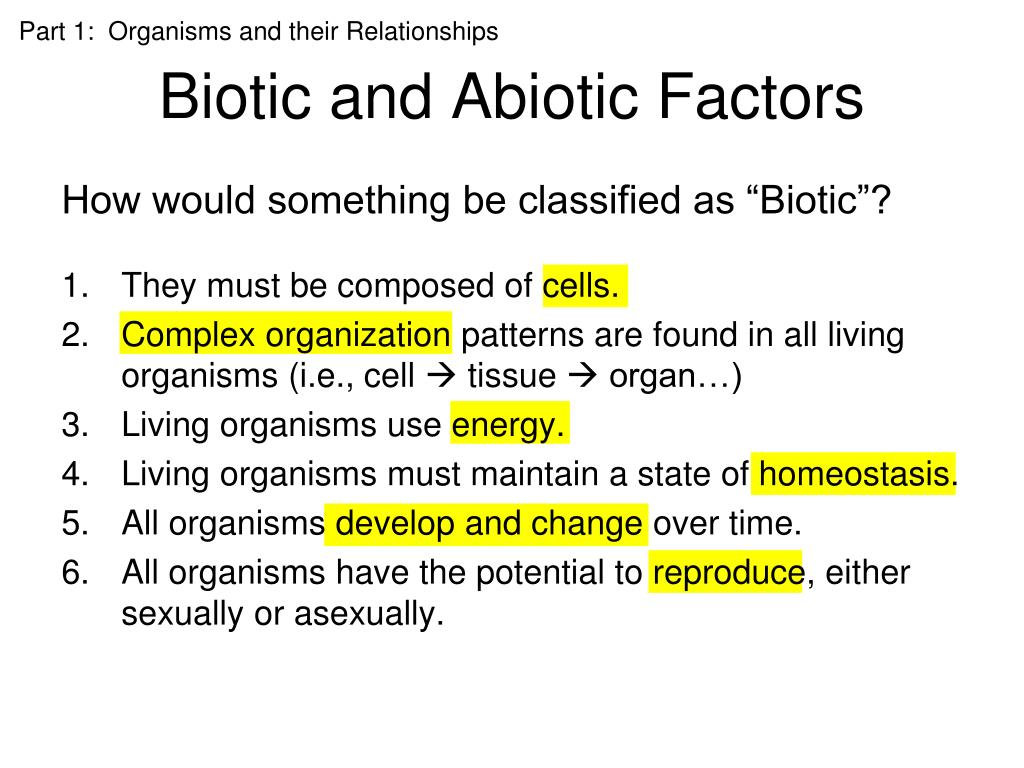 factors affecting the biotic and abiotic features essay