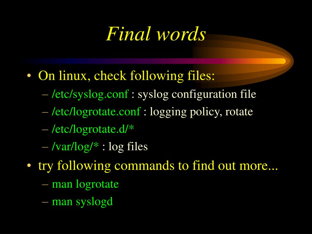 PPT - Syslog and Log files PowerPoint Presentation - ID:423951