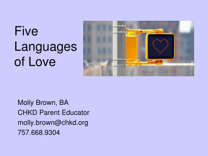 five languages of love n.