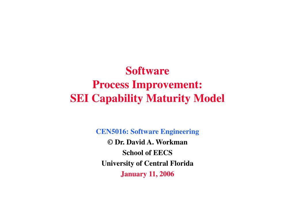 software process improvement sei capability maturity model l.