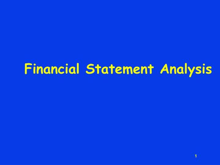 financial statement analysis n.