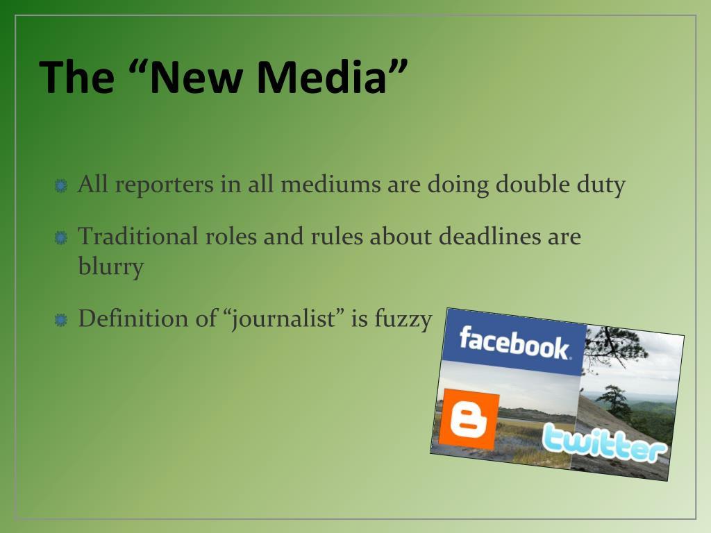 """The """"New Media"""""""