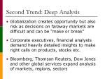 second trend deep analysis
