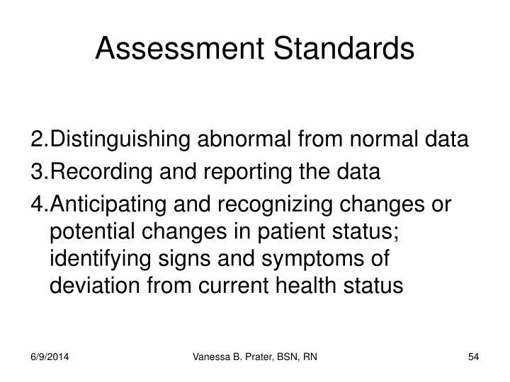 Assessment Standards