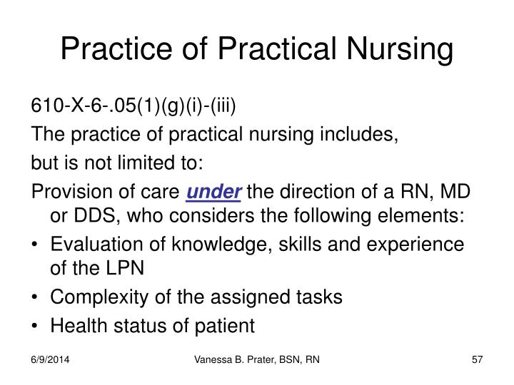 Practice of Practical Nursing