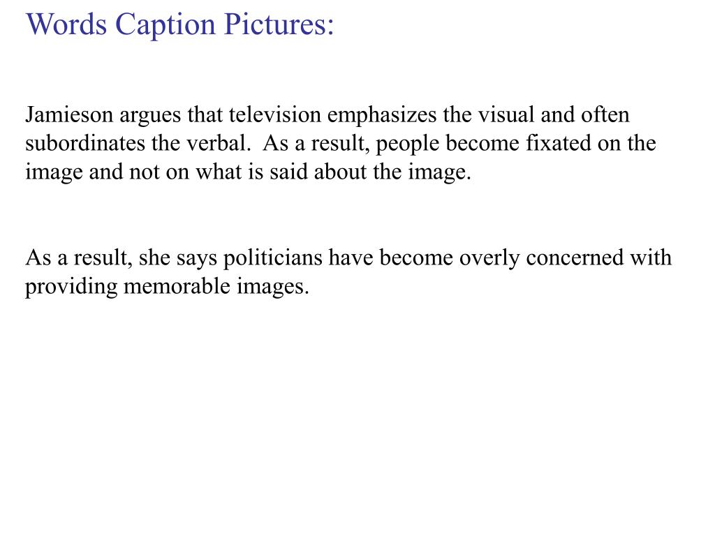 Words Caption Pictures: