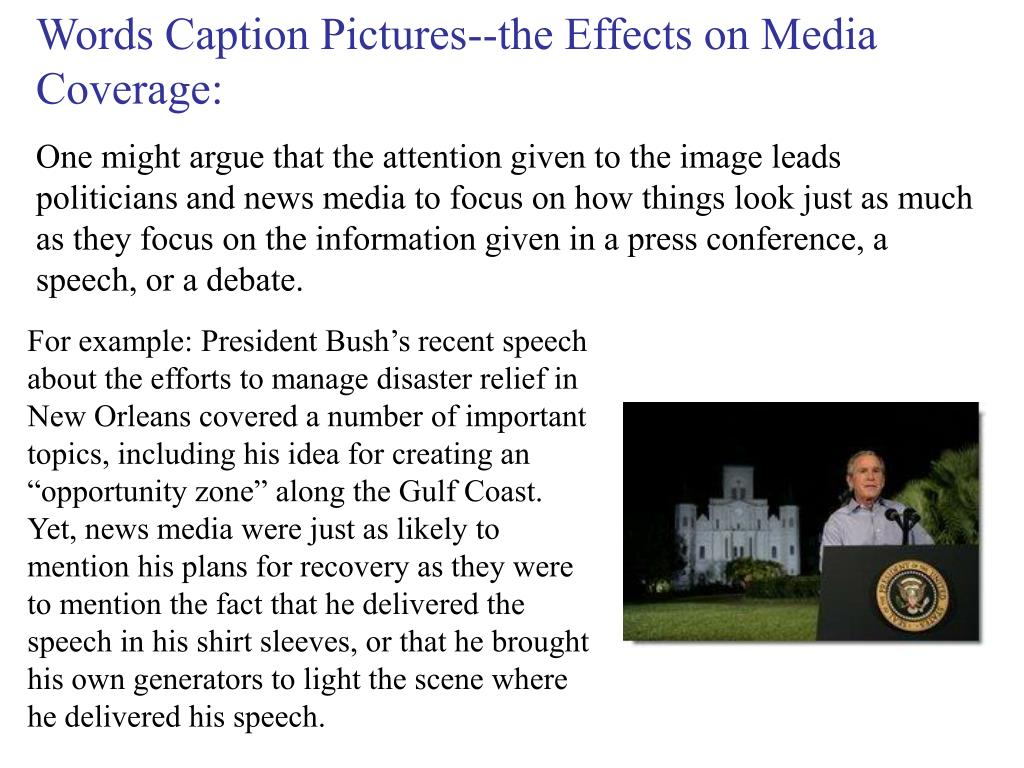 Words Caption Pictures--the Effects on Media Coverage: