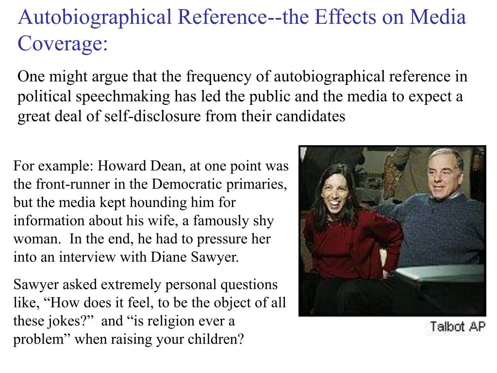 Autobiographical Reference--the Effects on Media Coverage: