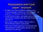 newspapers aren t just paper anymore