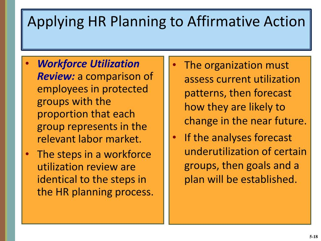Applying HR Planning to Affirmative Action