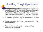 handling tough questions