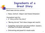 ingredients of a great story