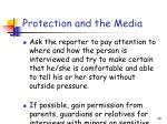 protection and the media29