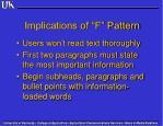 implications of f pattern