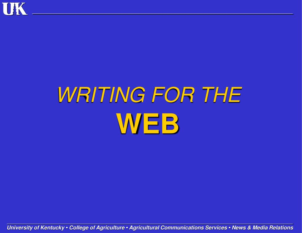writing for the web l.