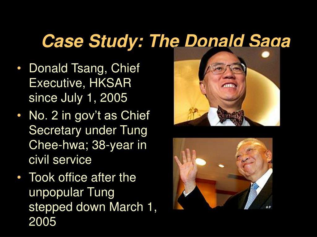 Case Study: The Donald Saga