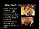 case study the donald saga