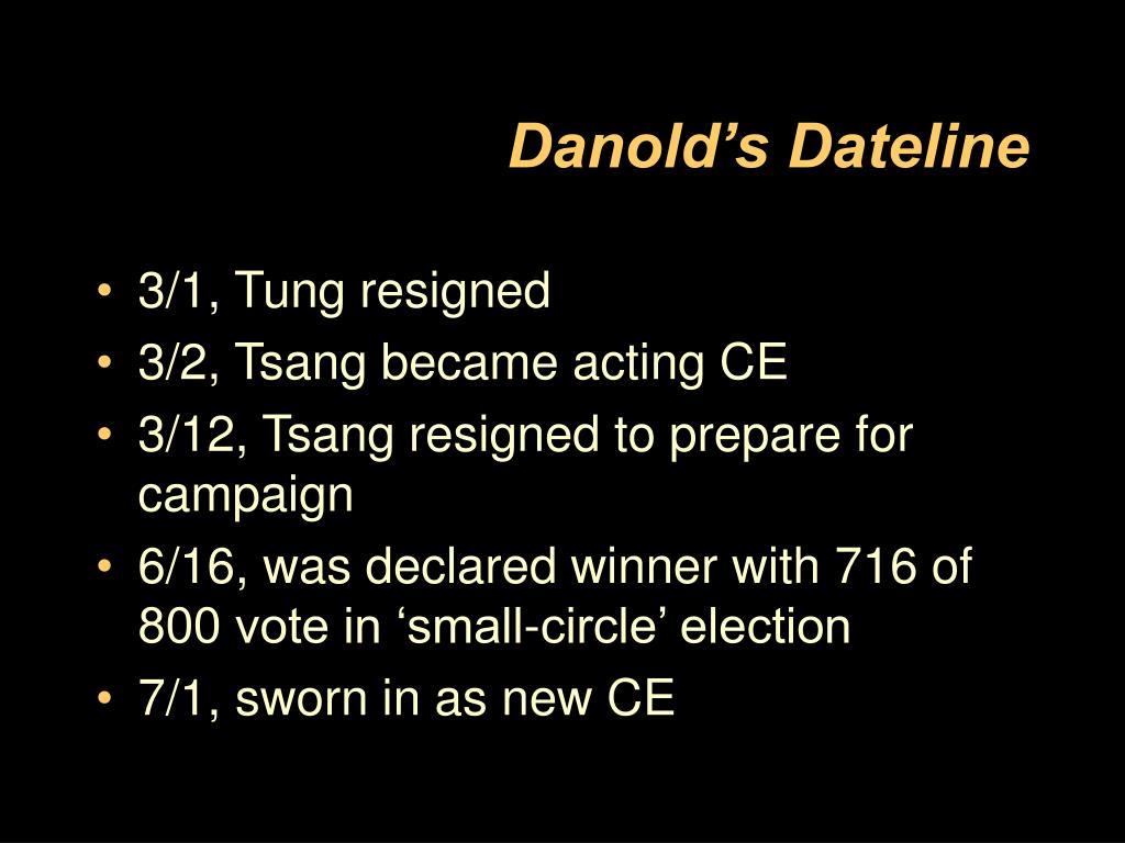 Danold's Dateline