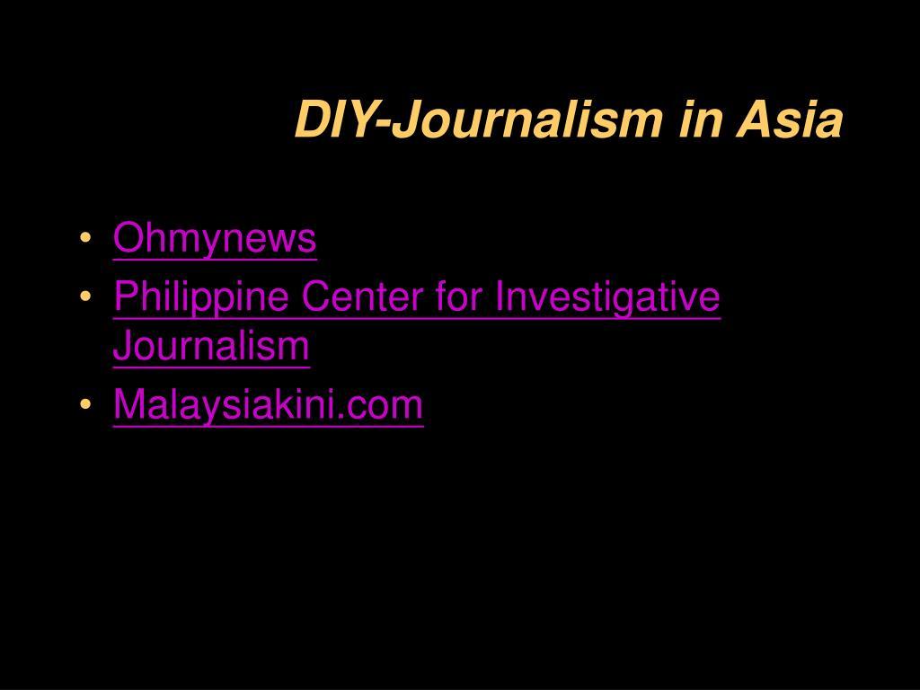 DIY-Journalism in Asia
