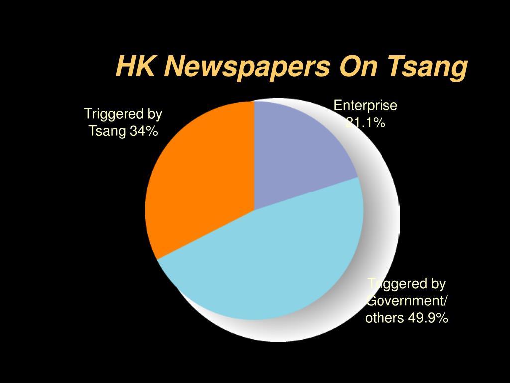 HK Newspapers On Tsang