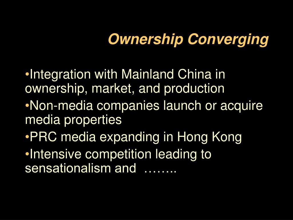 Ownership Converging