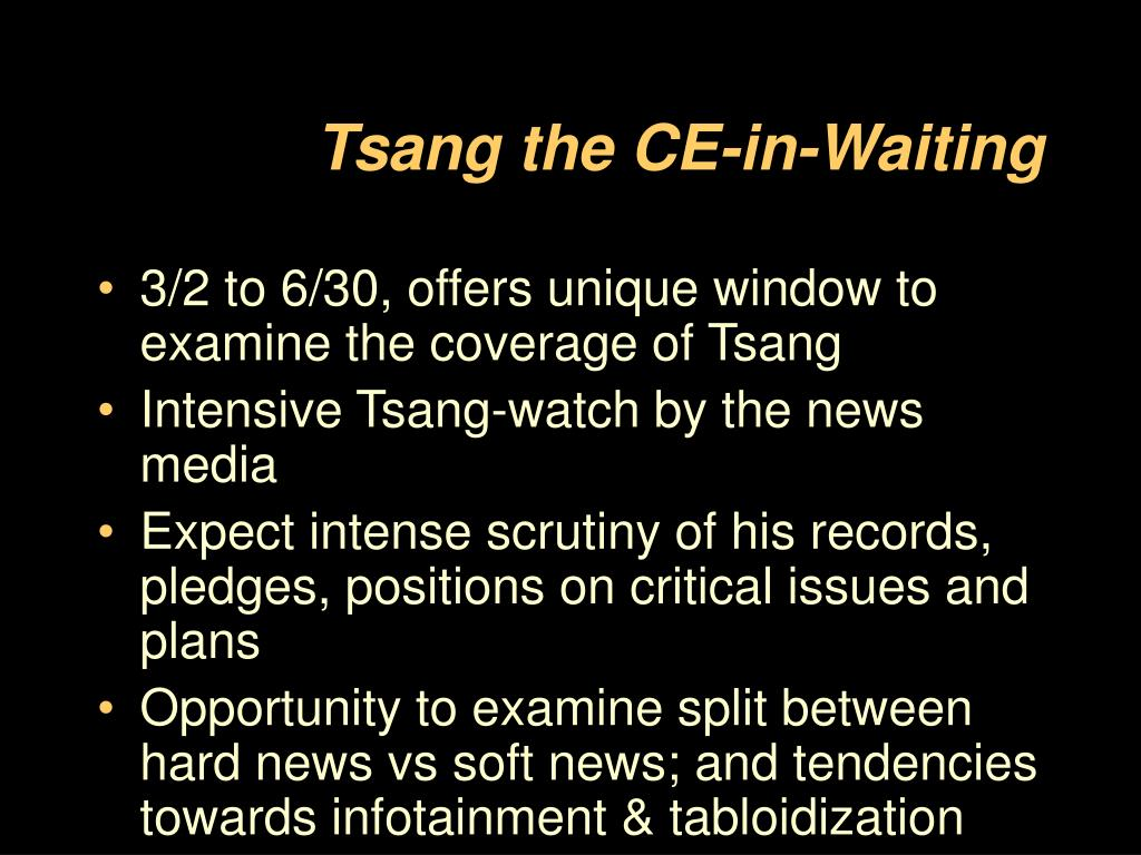 Tsang the CE-in-Waiting