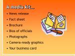 a media kit