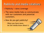 publicity and media relations