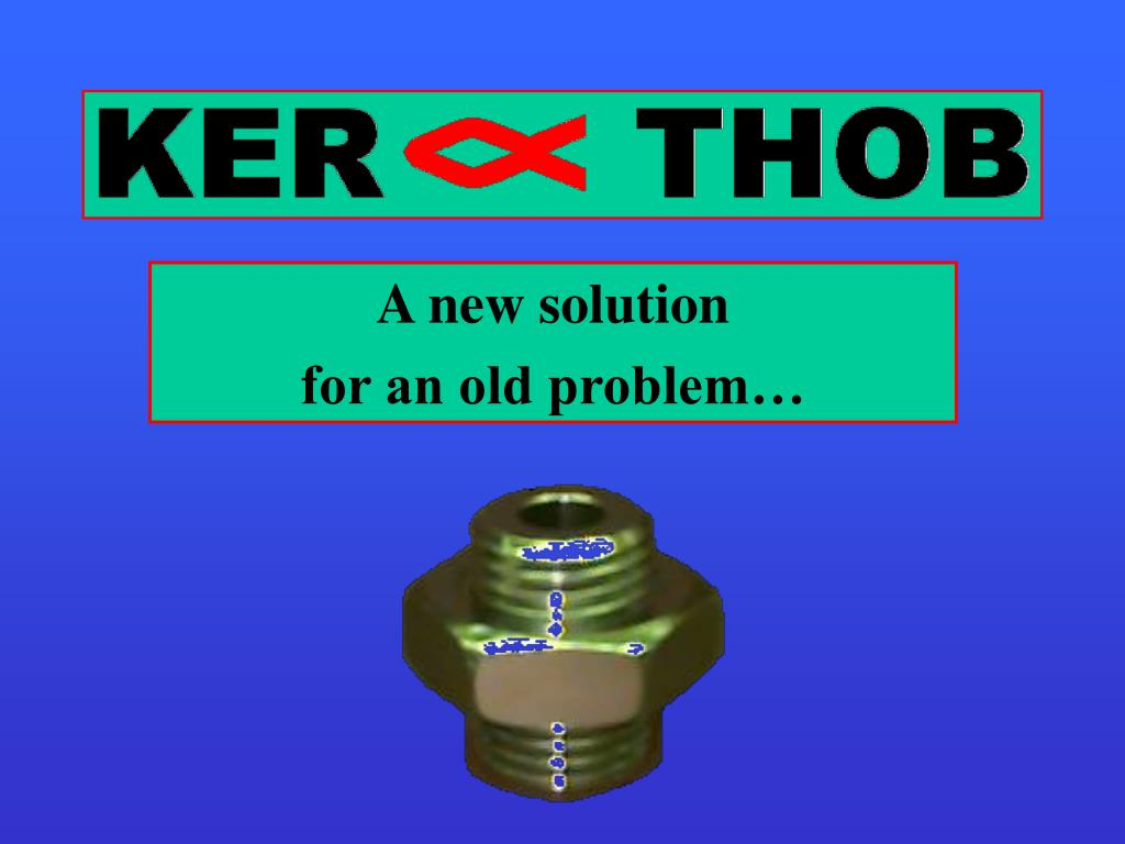 a new solution for an old problem l.