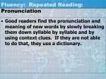 fluency repeated reading pronunciation