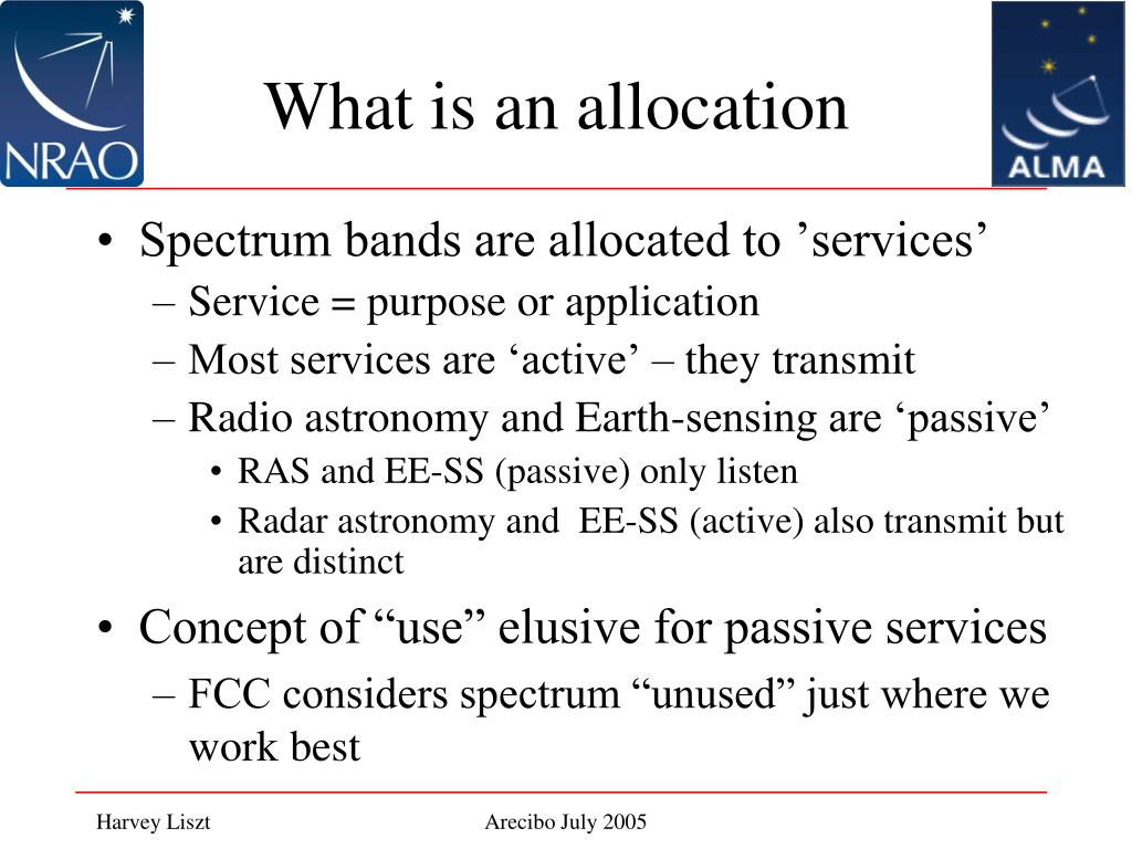 What is an allocation