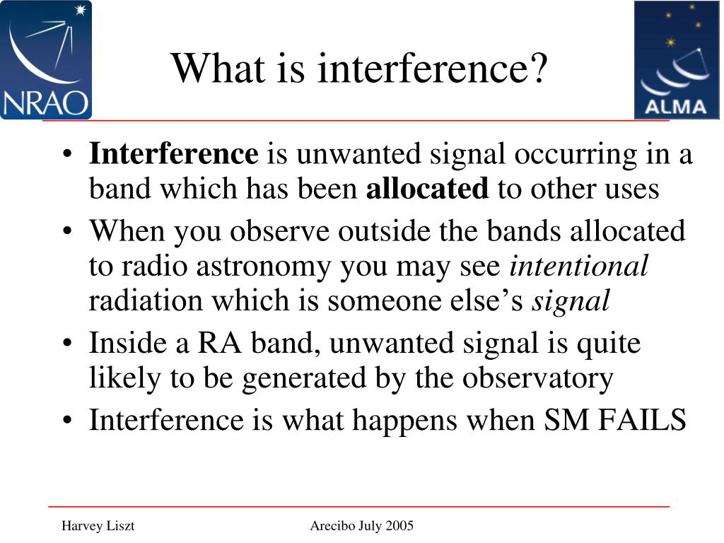 What is interference?